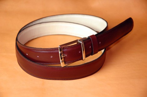 French Boxcalf belt medium