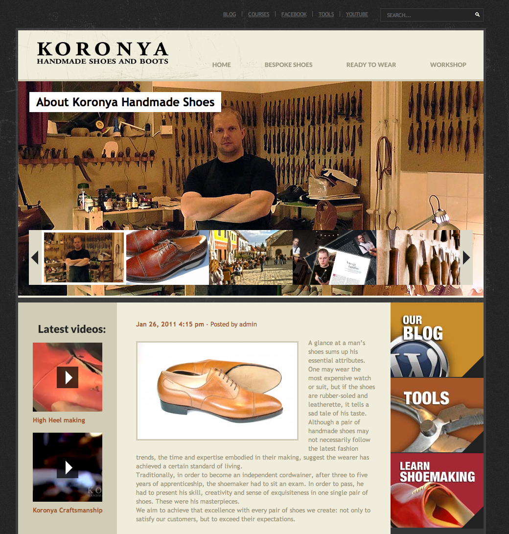 New website for Koronya.com – Shoes and