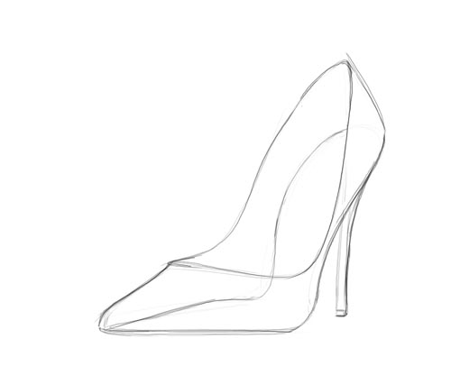 shoes heels drawing. and the steps: shoes heels drawing